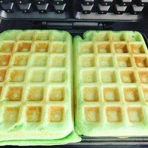 Glutenvrije groene wafels