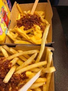 Glutenvrije friet Mc Donalds Italië met cheddar